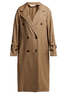 Sonia Rykiel Double-breasted Prince of Wales-check wool coat