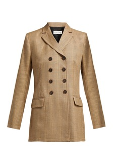 Sonia Rykiel Double-breasted Prince of Wales-check wool jacket
