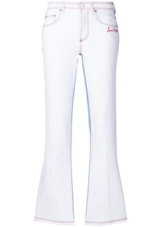 Sonia Rykiel flared fitted jeans - White