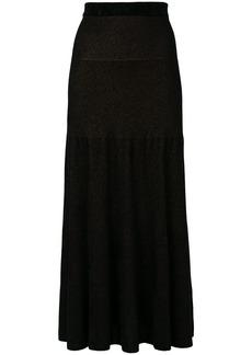 Sonia Rykiel flared knit skirt - Black