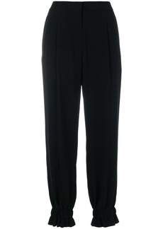 Sonia Rykiel gathered ankle trousers - Black