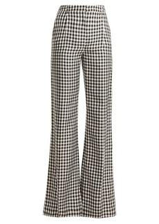 Sonia Rykiel Gingham wide-leg twill trousers