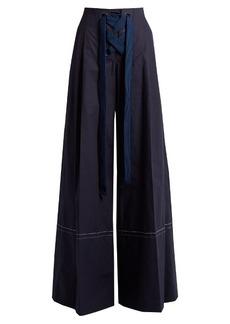 Sonia Rykiel High-rise cotton wide-leg trousers