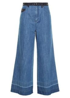 Sonia Rykiel High-rise wide-leg cropped jeans