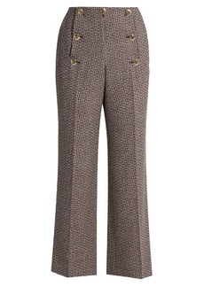 Sonia Rykiel High-waisted flared wool-tweed trousers