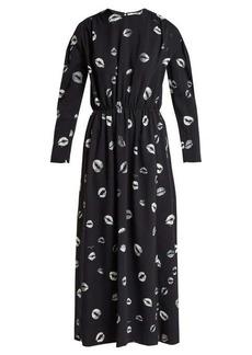 Sonia Rykiel Kiss-print cady midi dress