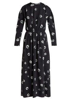 Sonia Rykiel Kiss-print cady midi dress