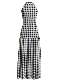 Sonia Rykiel Knitted gingham dress