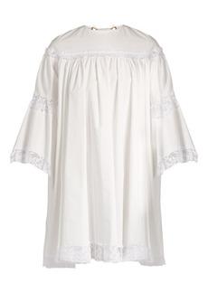Sonia Rykiel Lace-trimmed cotton dress