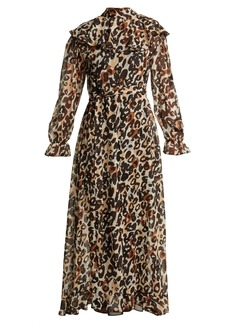 Sonia Rykiel Leopard-print silk maxi dress