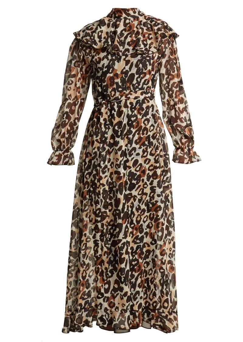 b60e87204e0 SALE! Sonia Rykiel Sonia Rykiel Leopard-print silk maxi dress