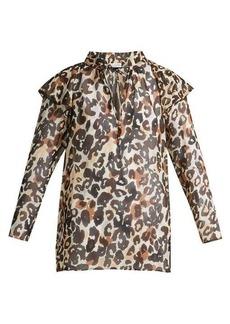 Sonia Rykiel Leopard silk blouse