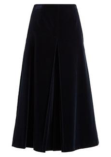 Sonia Rykiel Mid-rise cotton-velvet culottes