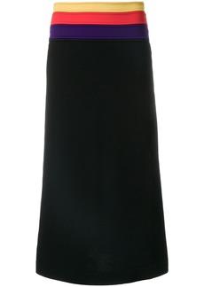 Sonia Rykiel Milano knit pleated skirt - Black