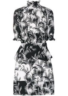 Sonia Rykiel palm print crepe smock dress - Black