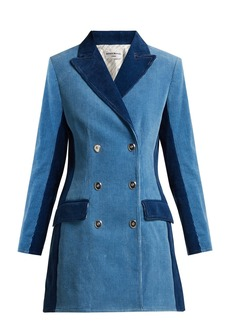 Sonia Rykiel Panelled double-breasted corduroy coat