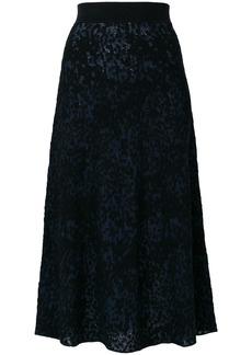 Sonia Rykiel patterned midi skirt - Blue
