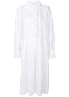 Sonia Rykiel pleated and crochet trimmed dress - White