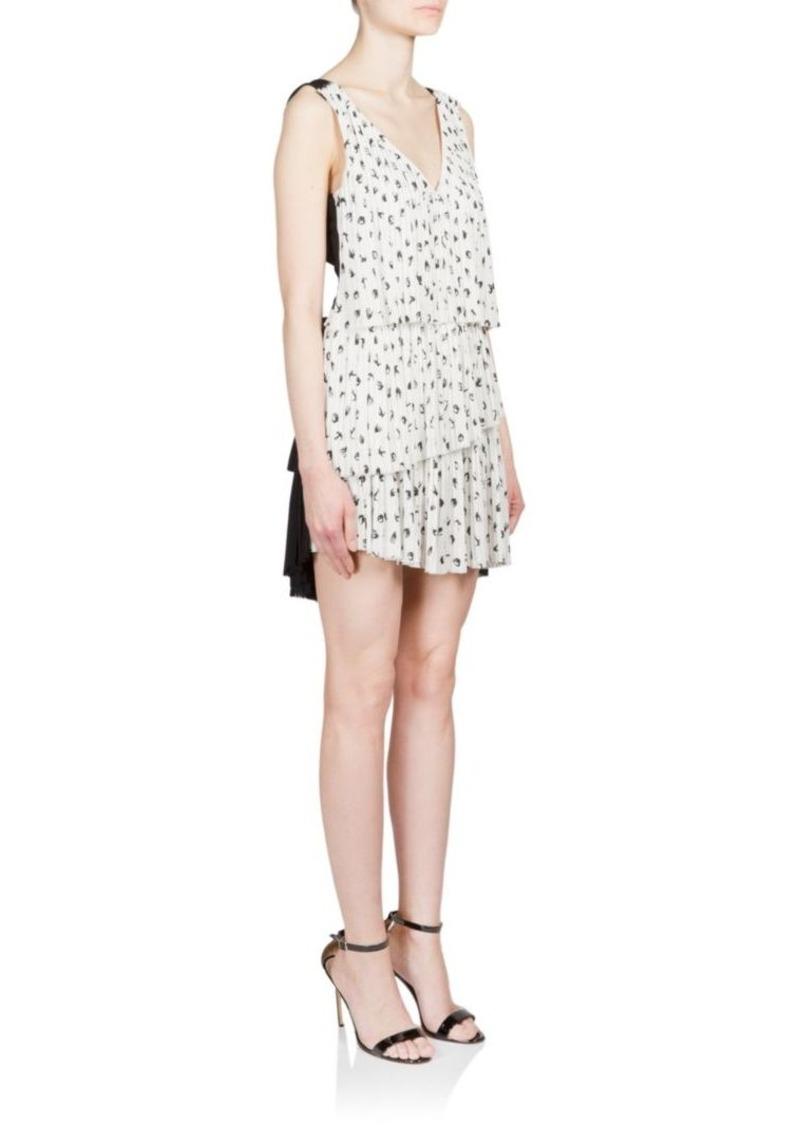 Sonia Rykiel Pleated Two-Tone Dress