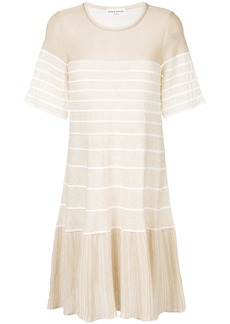 Sonia Rykiel Pleated voile maxi dress - Nude & Neutrals
