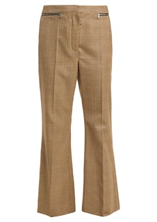 Sonia Rykiel Prince of Wales-check flared wool trousers