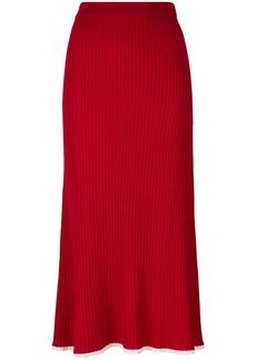 Sonia Rykiel ribbed-knit midi skirt - Red