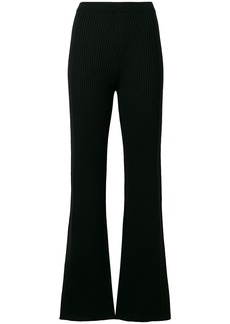 Sonia Rykiel ribbed-knit trousers - Black
