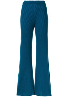 Sonia Rykiel ribbed knit trousers - Blue