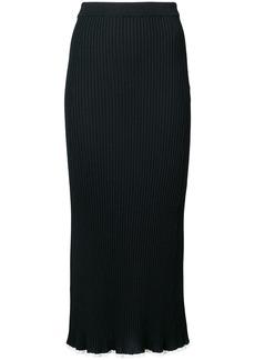 Sonia Rykiel ribbed knitted skirt - Black