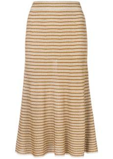 Sonia Rykiel Ribbed lurex striped skirt - Nude & Neutrals