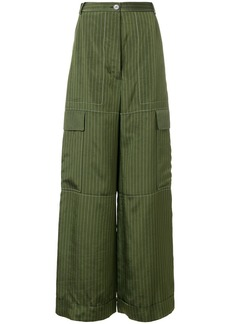 Sonia Rykiel Rive Gauche striped cargo trousers - Green
