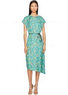Sonia Rykiel Roses Print Maxi Dress with Belt