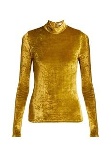 Sonia Rykiel Saint Germain high-neck velvet top