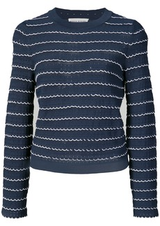 Sonia Rykiel scalloped knitted top - Blue