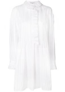 Sonia Rykiel semi-sheer striped shirt dress - White