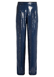 Sonia Rykiel Sequin-embellished wide-leg trousers