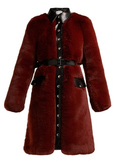 Sonia Rykiel Single-breasted faux fur coat