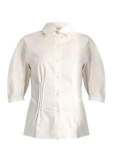 Sonia Rykiel Spread-collar stretch-cotton blouse