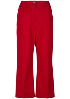 Sonia Rykiel straight leg cropped trousers - Red