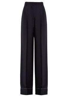Sonia Rykiel Stretch-cady wide-leg trousers