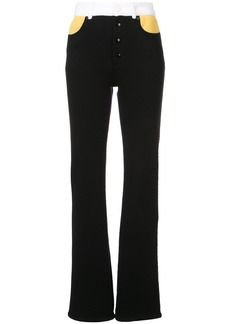 Sonia Rykiel stripe wide leg pants - Black