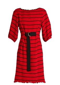 Sonia Rykiel Striped cotton-blend tweed dress