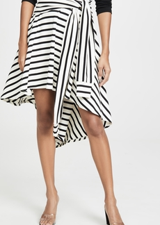Sonia Rykiel Striped Jersey Asymmetrical Skirt