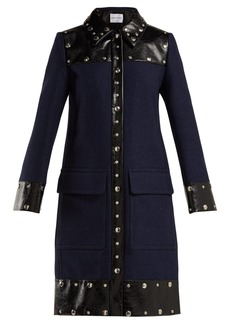 Sonia Rykiel Stud-embellished wool-blend coat