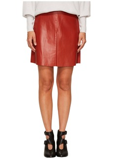 Sonia Rykiel Thin Lamb Leather Skirt