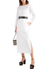Sonia Rykiel Woman Broderie Anglaise Cotton Midi Dress White