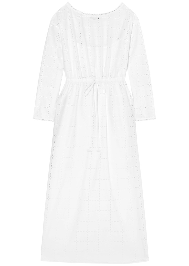 Sonia Rykiel Woman Broderie Anglaise Cotton Midi Dress White