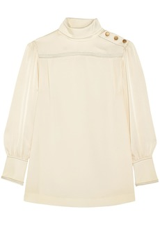 Sonia Rykiel Woman Button-detailed Crepe Blouse Ecru