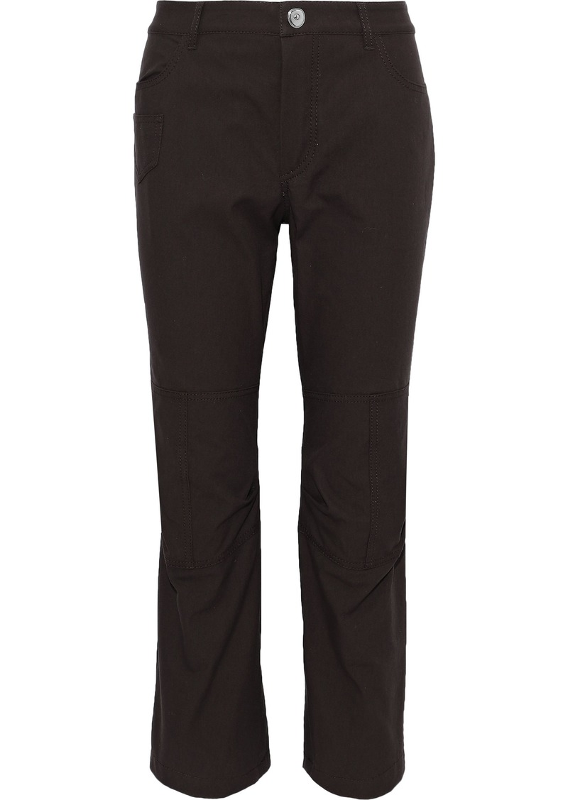 Sonia Rykiel Woman Cropped Cotton-canvas Slim-leg Pants Dark Brown