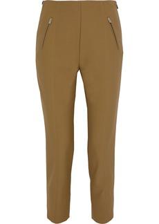 Sonia Rykiel Woman Cropped Zip-detailed Stretch-twill Slim-leg Pants Camel
